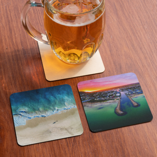 mockup-of-two-squared-coasters-by-a-jar-of-beer-27813